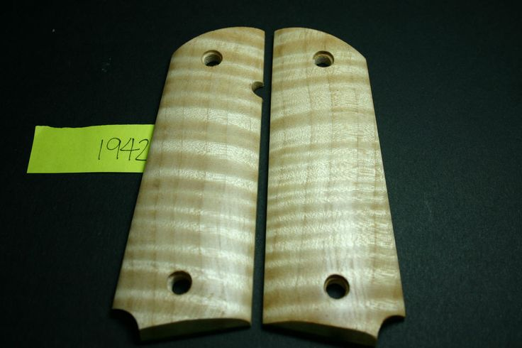 DIY 1911 Wood GRIPS Guitar Quality FLAME CURLY MAPLE COLT 45 Mag Fiddleback gov #206grips 206grips.com
