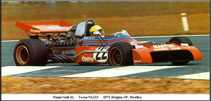 1972 GP Belgii (Nivelles) Tecno PA123 (Nanni Galli)