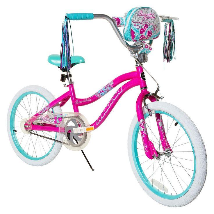 Girls magna precious pearls bike pinkaqua 20 pink