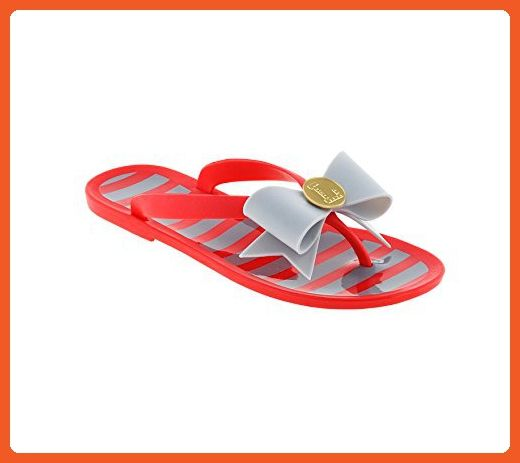 Scarlet and Gray Jelly Flip Flops - Sandals for women (*Amazon Partner-Link)