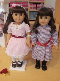 Beforever Sam and old Samantha American Girl dolls comparison
