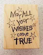 Personal Stamp Exchange Rubber Stamp May All Your Wishes Come True with Stars - Google Search