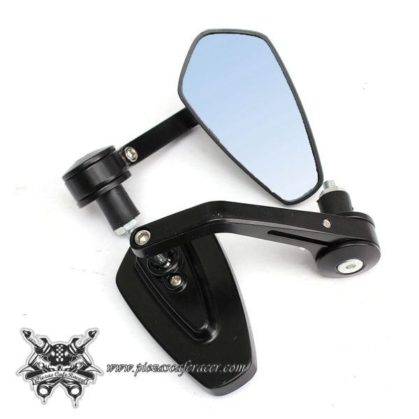 Espejos Retrovisores de Moto Para Manillar de 22mm Modelo Racing Look Color Negro -- 21,76€