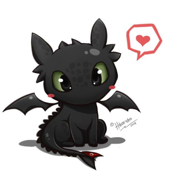 Toothless the dragon from how to train your dragon (I know it's dreamworks but he is cute enough to fit into Disney)