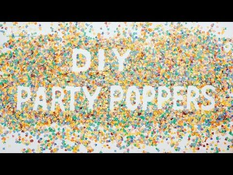 how to make a party popper firecracker
