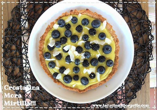la cucina di Jorgette: Crostatina Mora Mirtilla.....Vegan e deliziosa!!!