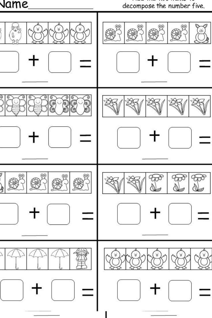 This Is A Free Kindergarten Decomposing Numbers Worksheet Students H Kindergarten Subtraction Worksheets Numbers Kindergarten Decomposing Numbers Kindergarten [ 1102 x 735 Pixel ]