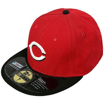 New Era Cincinnati Reds Fitted Hat NEA-CIN Red Baseball Cap Mens Size 7 3/4