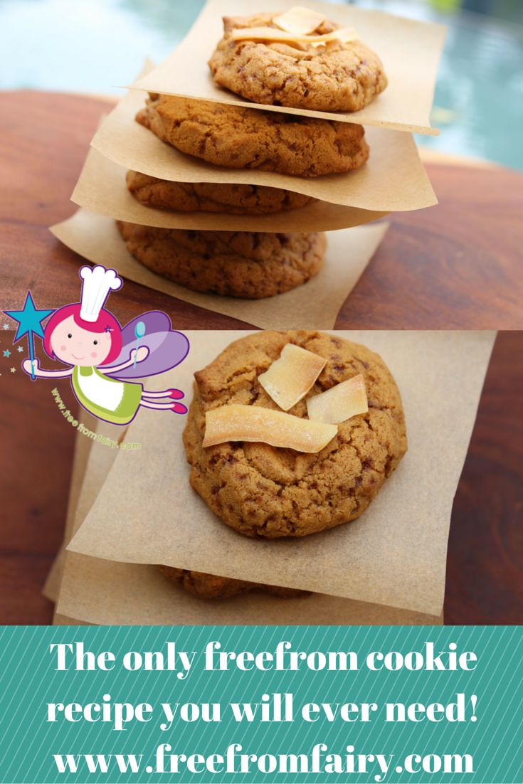 Gluten-free, Dairy-free, Egg-free, Nut-free, Soya-free, Refined Sugar-free easy soft cookies that everyone will love!