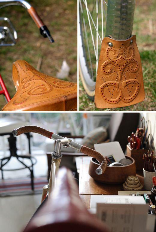Busyman Bicyles custom leatherwork