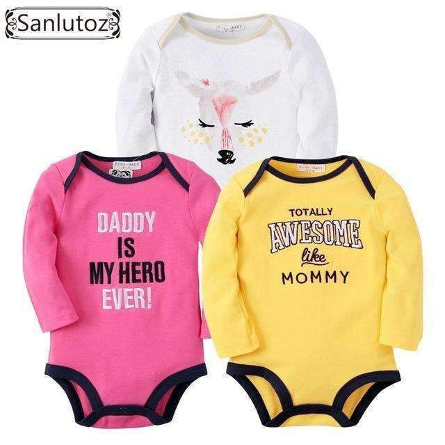 Sanlutoz Baby Girls Print Summer Romper Baby Kid Girls Cotton Casual Clothes