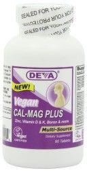 Deva Vegan Vitamins Calcium, Magnesium Plus  90 Tablets (Pack of 2)