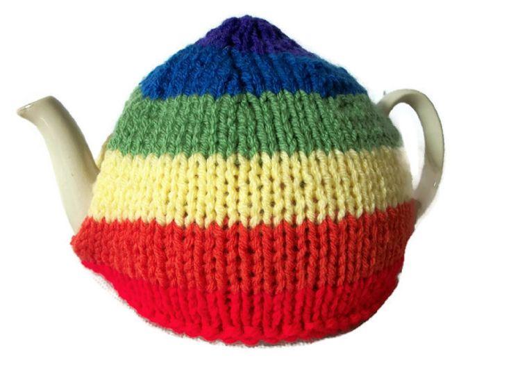 Rainbow Tea Cosy, Pride, Hand Knitted £14.99