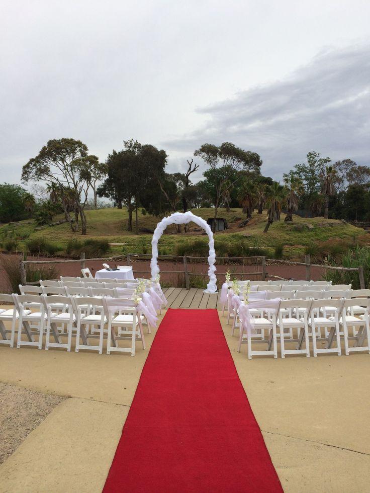 Werribee Open Range Zoo Events. Wedding ceremony.