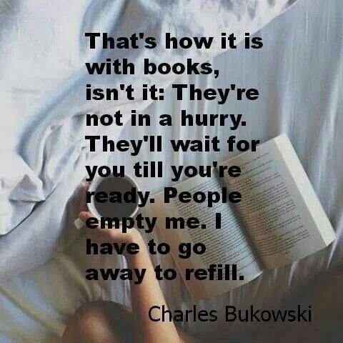 That's how it is with books, isn't it?