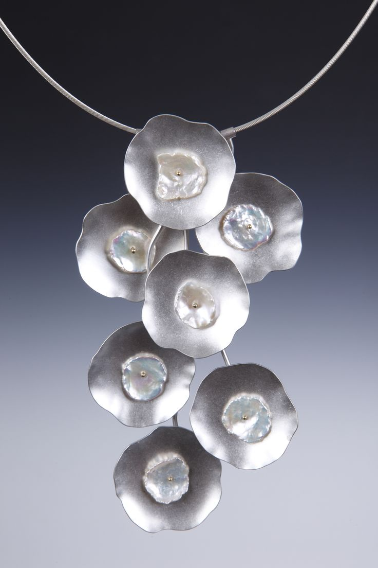Lona Northener Sterling Silver, 14K Gold and Keshi Pearls
