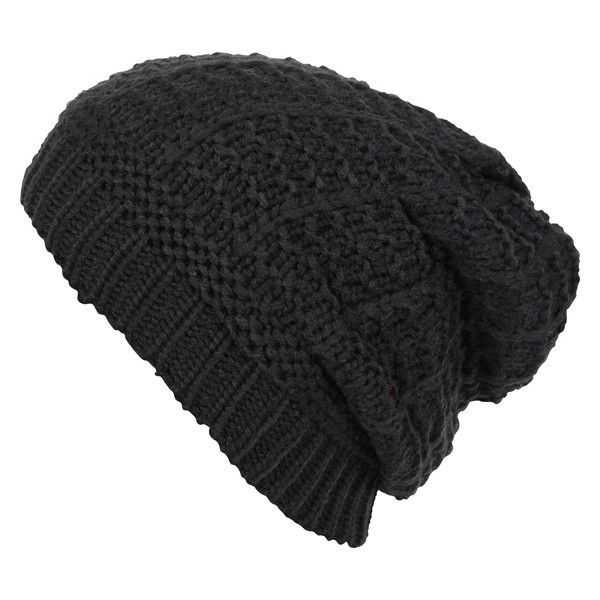 Agent Ninetynine Slouchy Beanie found on Polyvore featuring polyvore, fashion, accessories, hats, beanies, clothing, gorros, women, agent ninetynine and slouchy beanie