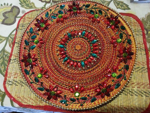 Festivals are beautiful for everyone but it beautifies for Aarti thali decoration pictures navratri