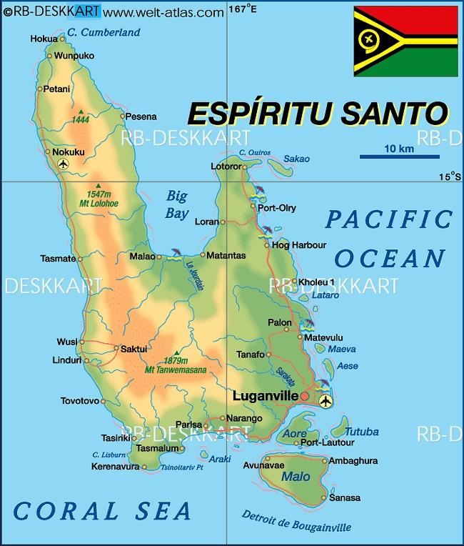 -Map of Espiritu Santo (Vanuatu) - Map in the Atlas of the World ...