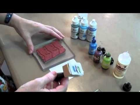 How to use Alcohol Inks, Acetate & Tissue Paper to create a greeting card - YouTube