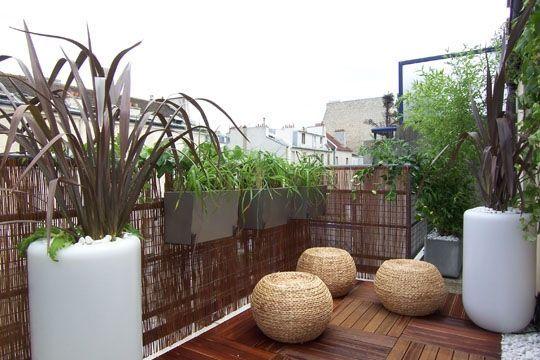 50 id es pour profiter de son balcon l 39 abri des regards jardin d co petit balcon balcon - Isoler son jardin des regards ...