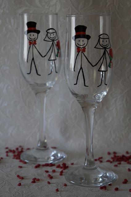 Santhal . Price 17 eur . Exclusive hand-painted wedding cups by Juliana Hamajdak. www.malovaneumenie.sk