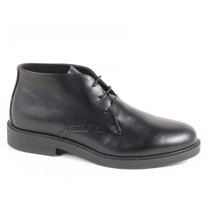 Versace 19.69 Abbigliamento Sportivo Srl Milano Italia Mens Ankle Boot V5156 VITELLO CRUST NERO