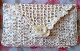 Crochet hand purse ♥LCP-MRS♥ with diagrams --- Tecendo Artes em Crochet: Carteira Pérola - Linda e Clássica!