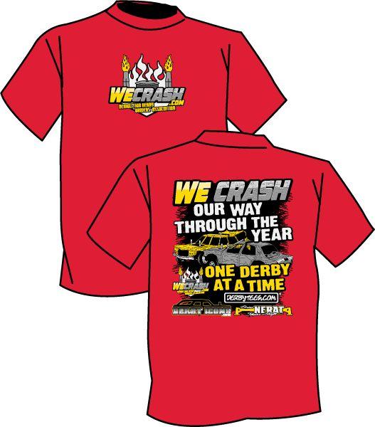 Derbytees.com - *ONLINE EXCLUSIVE* WeCrash One Derby Tee (Red), $20.00 (http://www.derbytees.com/wecrash-one-derby-tee-red/)
