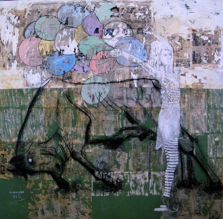 Mixed media on canvas 200 x 200 cm 2015 @Mark Hachem Gallery  #shadi_abousada #syrian_artist #شادي_أبوسعدة #shadiabousada #art #painting #shadow #markhachemgallerybeirut #artwork #acrylic #pink #artgallery #fineart #color #canvas #contemporary #exihibtion #beirut #gemmayzeh #dubai #lebanon #syria #holland #paris #painting #bullfighting #shadow #jordan