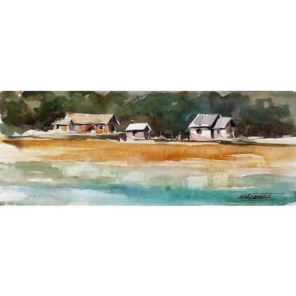 Paysage - Riverains #watercolor