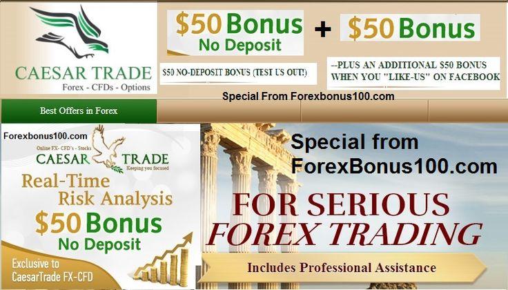 Caesar Trade Special 100 $ No Deposit Bonus for Forexbonus100.com Readers