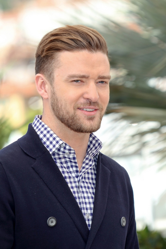 Justin Timberlake rocking some sleek hair and beard @ Cannes 2013