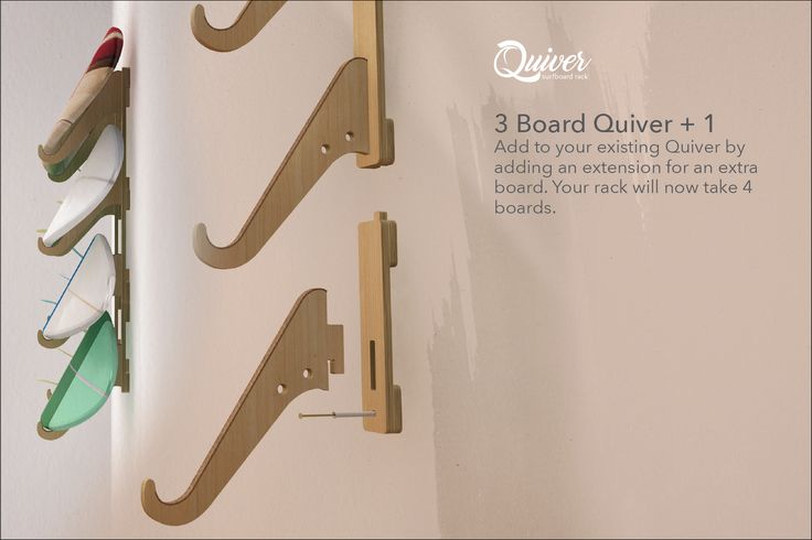 Quiver Surfboard Rack, Extra board addition