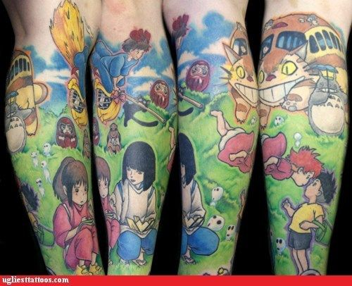 This Ghibli Tattoo is Full of WIN!