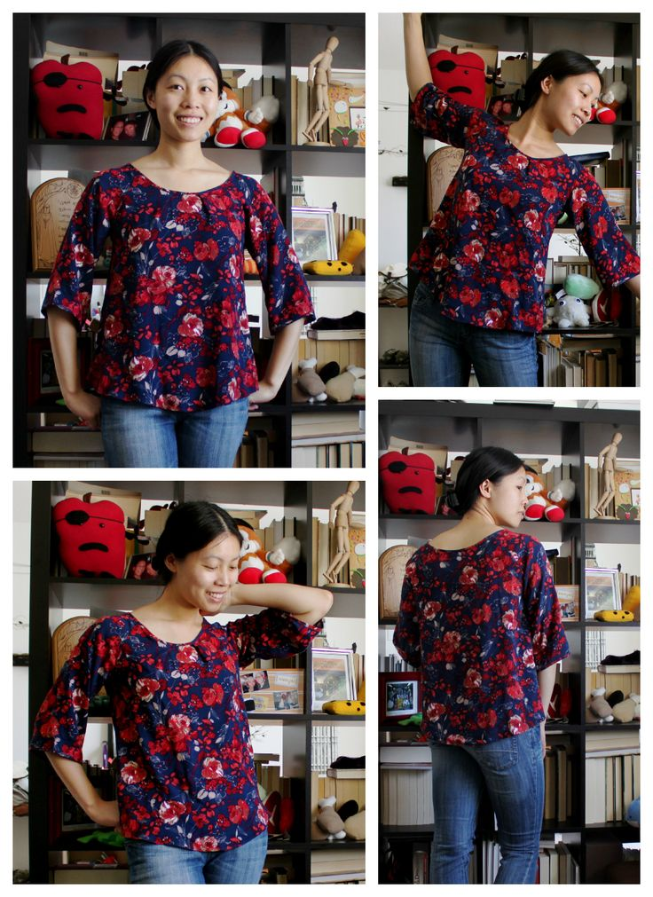 Free raglan sleeve swing top printable pattern (size small only)