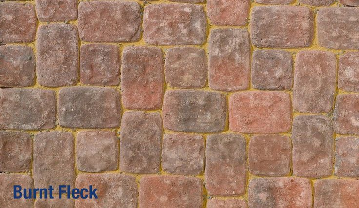 Brett Aura Square Stone rich pink red cobblestone paving. Perfect for cottage style rustic garden paths and driveways