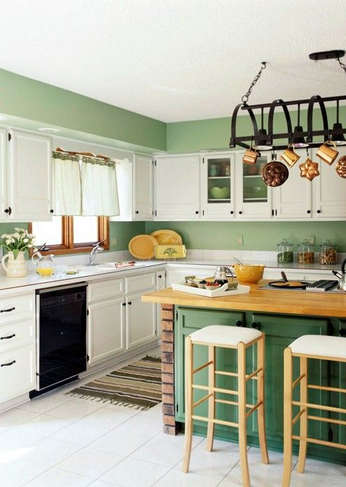green and white kitchen cabinets - Yahoo! Search Results