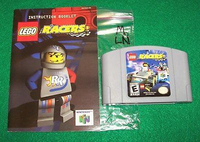 N64 LEGO RACERS - N64 Game & Manual - MINT CONDITION