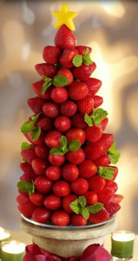Best christmas fruit carvings trees images on pinterest