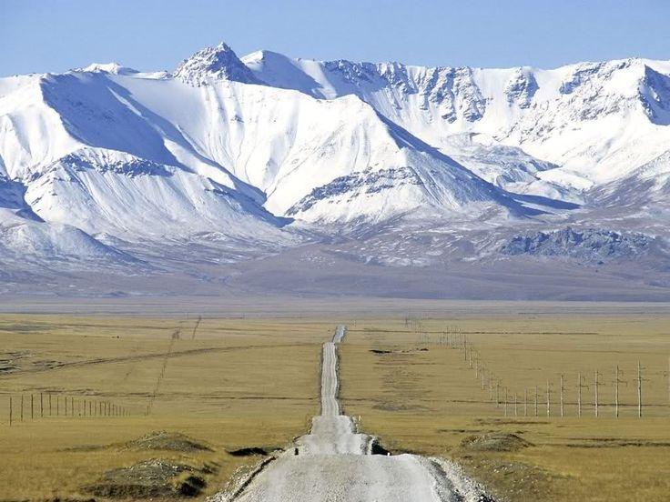 Lonely road  --  Tian Shan Mtn. Kyrgyzstan