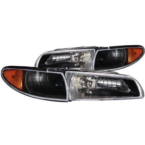 Anzo USA 121201 Pontiac Grand Prix Black Clear Headlight Ass