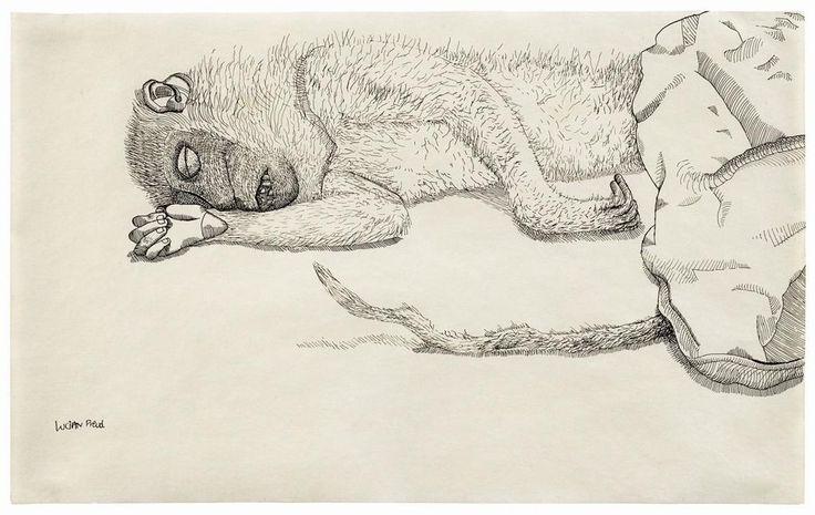 Lucian Freud, Dead Monkey, 1944