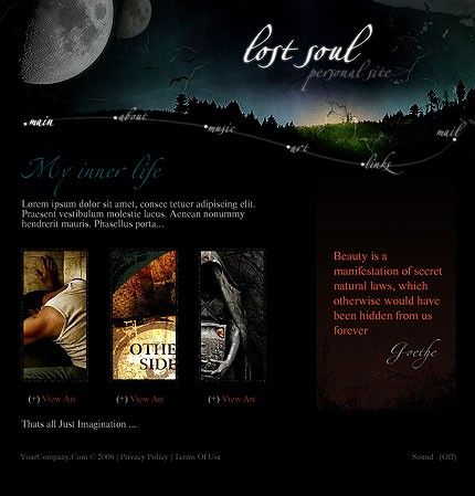 27 best Halloween Web Templates images on Pinterest   Coffee break ...