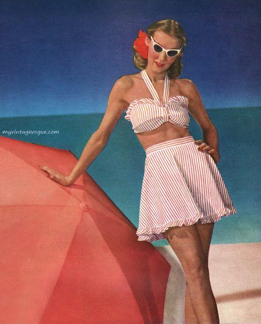 Women's Swimwear Fashion in the 1950's