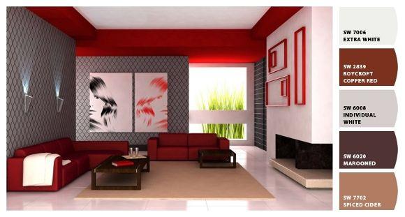 Decoracion de salas living living room color - Combinacion colores salon ...
