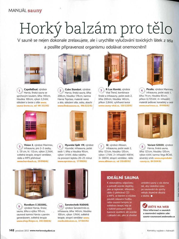 Naše infrasauny v časopisu Marianne bydlení, strana 2. [12/12]