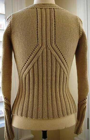 Абрикосовый жакет спицами - спина      ♪ ♪ ... #inspiration #crochet  #knit #diy GB  http://www.pinterest.com/gigibrazil/boards/