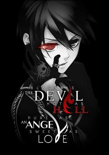 Noir comme le diable chaud comme l'enfer pur comme un ange doux comme l'amour