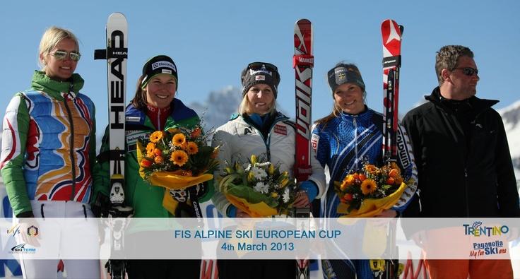 Coppa europa femminile di sci: testimonial alla premiazione Valeria Mazza!
